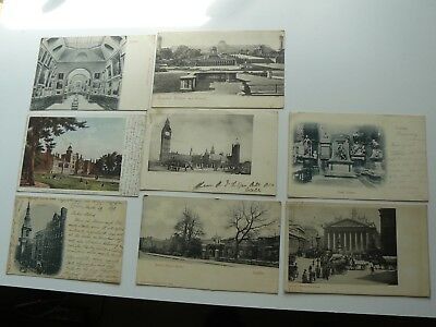 8 x early London Postcards to include a Court Card dated 1899 titled Cheapside