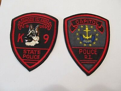 Rhode island State Police K-9 Unit Patch & Capitol