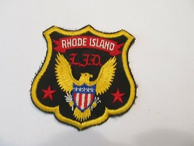 Rhode island State Law Enforcement Div Patch Defunct Cheese Cloth