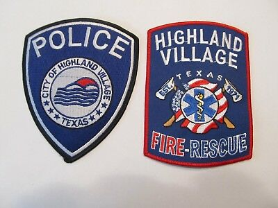 Texas Highland Village Police & Fire Patch