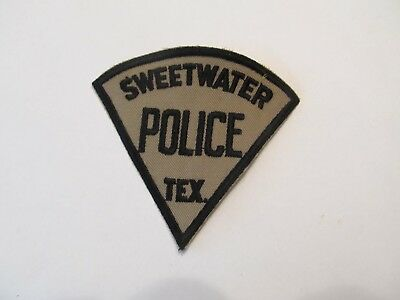 Texas Sweetwater Police Patch Old Cheese Cloth