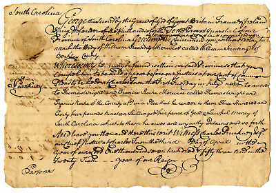 1753 Petition Rawlings Lowndes ADS SC Governor Charleston Mayor + More Political