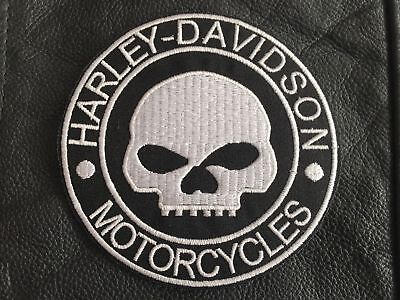Harley Davidson Patch Aufnäher Skull Biker Kutte Chopper MC G.Willis Rocker 10cm