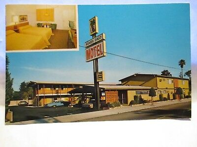 "1960s ADV POSTCARD  "" SLEEPY PALM HOTEL  "" 12225 E. FIRESTONE BLVD.  NORWALK CA"