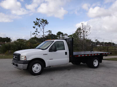 Ford Super Duty F-350 DRW Cab-Chassis Flatbed 2007 Ford F350 Flatbed 12ft Super Duty Truck 6.0L Turbo Diesel 2WD F-350 3500