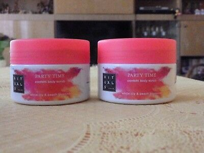 Rituals  Party Time  White Lily & Peach Blossom  Confetti Bodyscrub 2x125ml  NEU