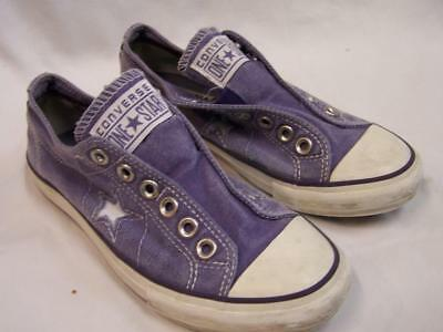 Converse One Star Womens Purple Slip-on Canvas Sneakers Size 6
