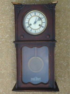 Antique German Wall Clock. Spares Or Repair