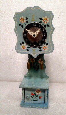 Mini Grandfather Clock With Mock Weights--8 Inches Tall