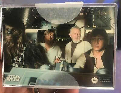 2018 Topps STAR WARS Authentics PROMO SET A New Hope Set #/50 LIMITED * RARE *