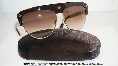 856b2c9023e2 TOM FORD New Authentic Sunglasses Liane Brown Brown Grad FT0318 AS 52G 62 14
