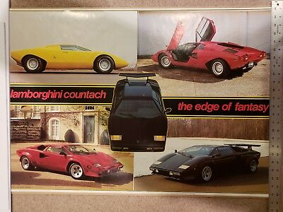 Vintage Lamborghini Countach 1971 1984 Collage 24x36 Poster - NEW!!!
