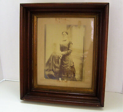 Antique Deep Walnut Wood Picture Frame Victorian - Picture Size 10 x 12 Inches