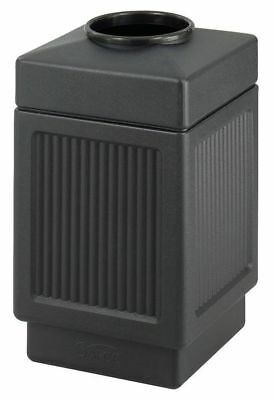 38 gal. Black Plastic Square Trash Can SAFCO 9475BL