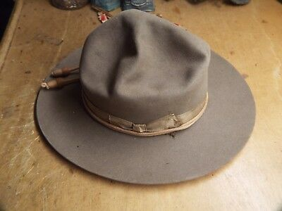 NICE PRE WW1 U.S Campaign Hat   STETSON HAT LOOKS ISSUED 1904 WITH CORDS