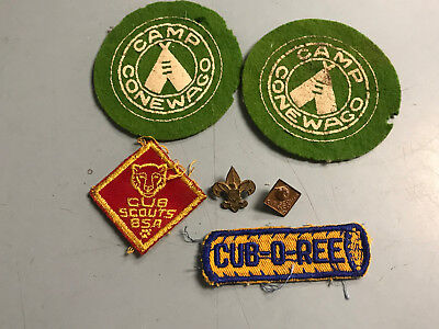 Vintage Boy Scout Wool Patches & Pins