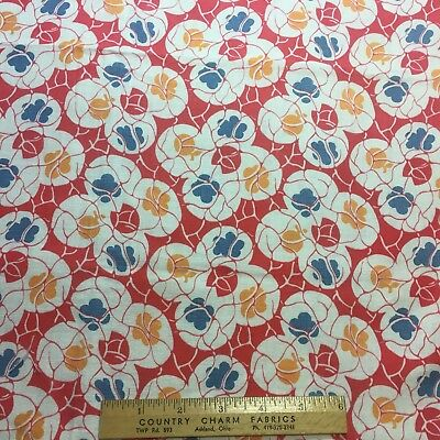 Vintage Cotton Feedsack Fabric 30s40s SWEET Floral 1/2 Sack EXC