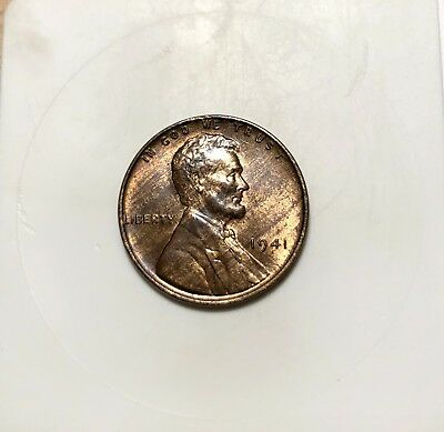 """1941 """"Woodie"""" Lincoln Wheat Cent - Imprper Alloy Mix - Unc. - Woodie - 1c"""