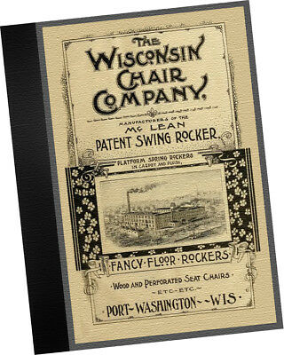 Wisconsin Chair Co 1892 CATALOGUE Platform Swing Rockers trade samples Furniture