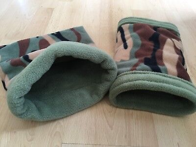 FLEECE SNUGGLE POUCH & TUNNEL for Skinny Guinea Pig / African Pygmy Hedgehog Bed