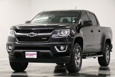 Chevrolet Colorado 4WD Z71 Leather GPS Black Extended Cab 4X4 Used Heated Seats Navigation Camera Bluetooth Off Road 17 18 2017 16 Ext V6
