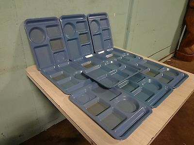 """Lot Of 10 """" Carlisle """" Heavy Duty Commercial Melamine 5 Compartment Food Trays"""