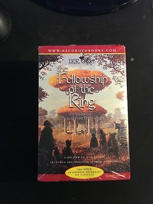 The Fellowship of the Ring 12 Audio Cassette Recording New in plastic wrap