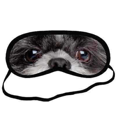 Cute Adorable LHASA APSO EYES Dog Puppy Small-Med Size SLEEP MASK Gift Cover