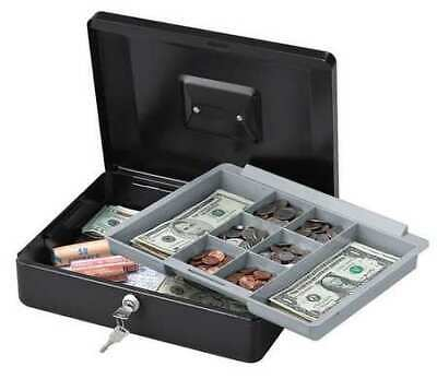 SENTRY SAFE CB-12 Cash Box,Steel,Key Lock,Black