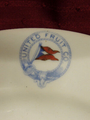 Rare, Mobile, Alabama, United Fruit Co., Round Luncheon Plate, C1910, Steamship