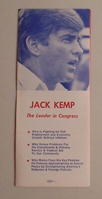 Jack Kemp New York local brochure campaign political