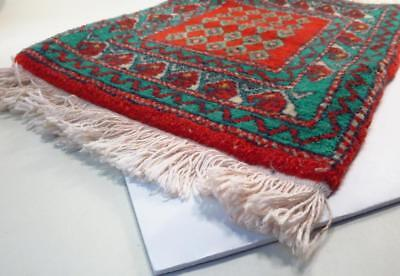 Wool Red Turquoise Elephants Fringed Thick Prayer Rug *