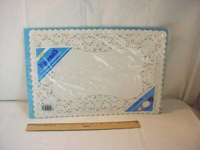 Vtg Royal Lace Placemats White Paper Doilies 20 Count in Package