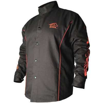 Welding Jacket,FR,Cotton,Black,M BSX BX9C