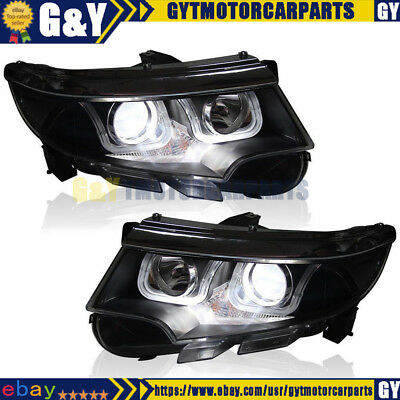 Headlights For   Ford Edge Hid Bi Xenon Projector And Led Drl