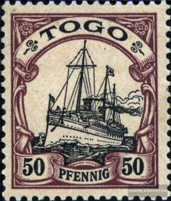 Togo (German. Colony) 14 with hinge 1900 Ship Imperial Yacht Hohenzollern