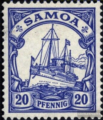 Samoa (German. Colony) 10 with hinge 1900 Ship Imperial Yacht Hohenzollern