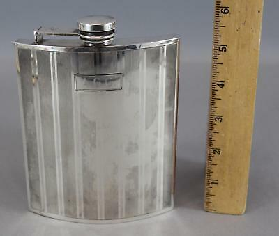 Antique Early 20thC Watrous International Sterling Silver 1/2 Pint Hip Flask,