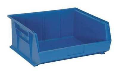 """Blue Hang and Stack Bin, 14-3/4""""L x 16-1/2""""W QUANTUM STORAGE SYSTEMS QUS250BL"""