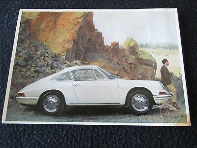 1966 1967 Porsche 912 911 Post Card Early German Postcard, Pic from Brochure