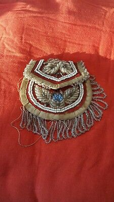 Vintage Antique ? Native American Bead Beaded Pouch Bag