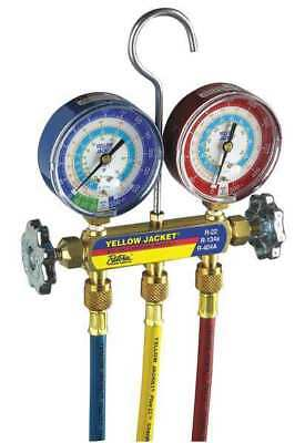 Mechanical Manifold Gauge Set,2-Valve YELLOW JACKET 42006