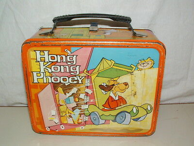 1975 THERMOS brand TIN-LITHO ( HONG KONGPHOOEY  )  LUNCHBOX ONLY