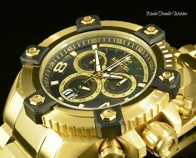 New Invicta Reserve 63mm Grand Octane Swiss Quartz 18K GoldPlated Bracelet Watch