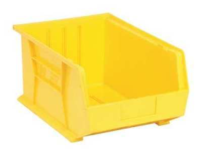 "Yellow Hang and Stack Bin, 16""L x 11""W x 8""H QUANTUM STORAGE SYSTEMS QUS255YL"