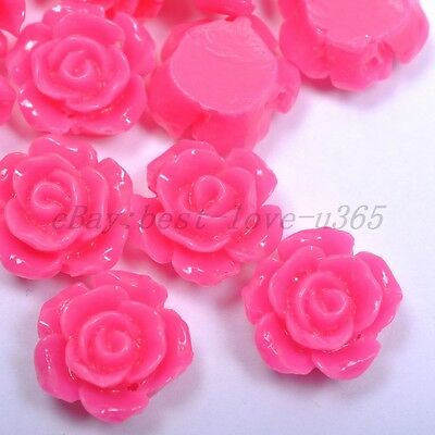 20pcs Plum Gorgeous Rose Flower Coral Resin Spacer Beads 10MM