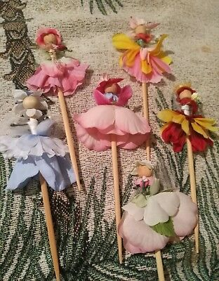 Lot of 5 New Handmade Flower Fairy Dolls by Nannette #1