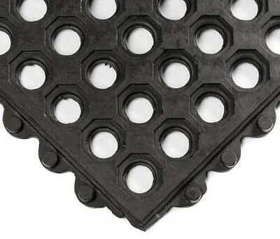 Interlock Drainage Mat,Black,3 ft.x3 ft. WEARWELL 572