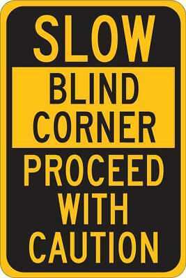Traffic Sign,18 x 12In,Black/Yellow BRADY 124465