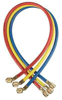 YELLOW JACKET 21986 Manifold Hose Set,72 In,Red,Yellow,Blue